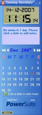 desktop secretary,calendar,reminders,notes,memos