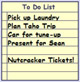 Useful todo list. Use as a shopping list or general reminder.